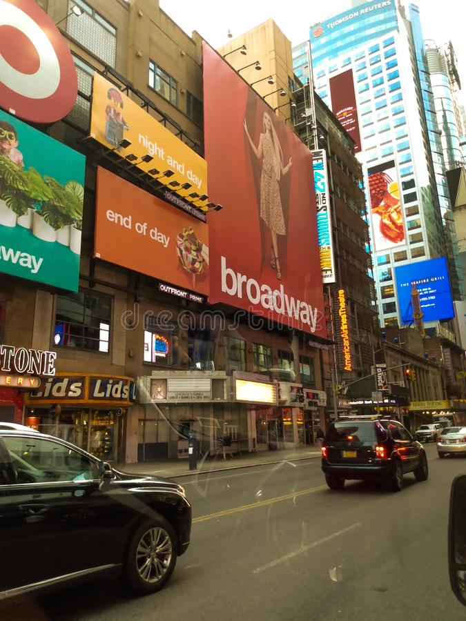 A part of times square stock photo