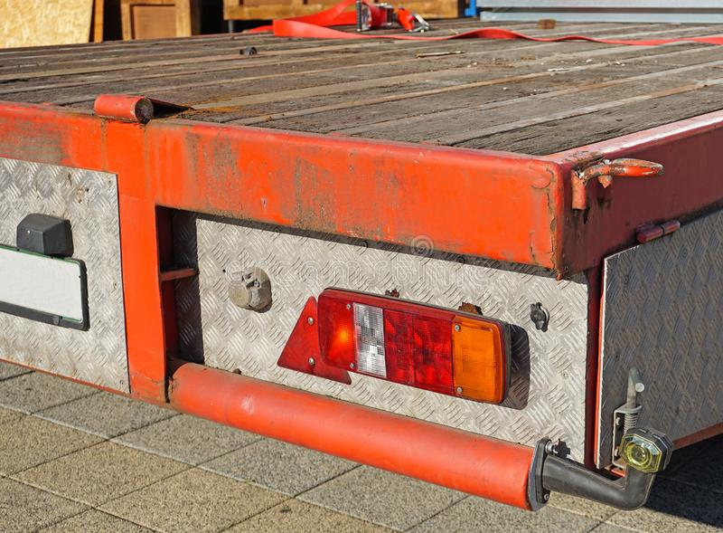 Part of a trailer camion. Outdoors royalty free stock photography