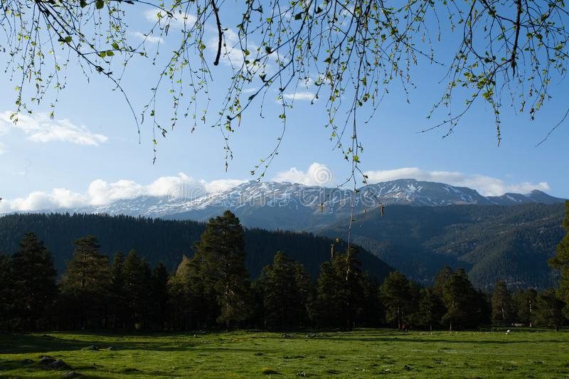 Early spring mountains royalty free stock photography