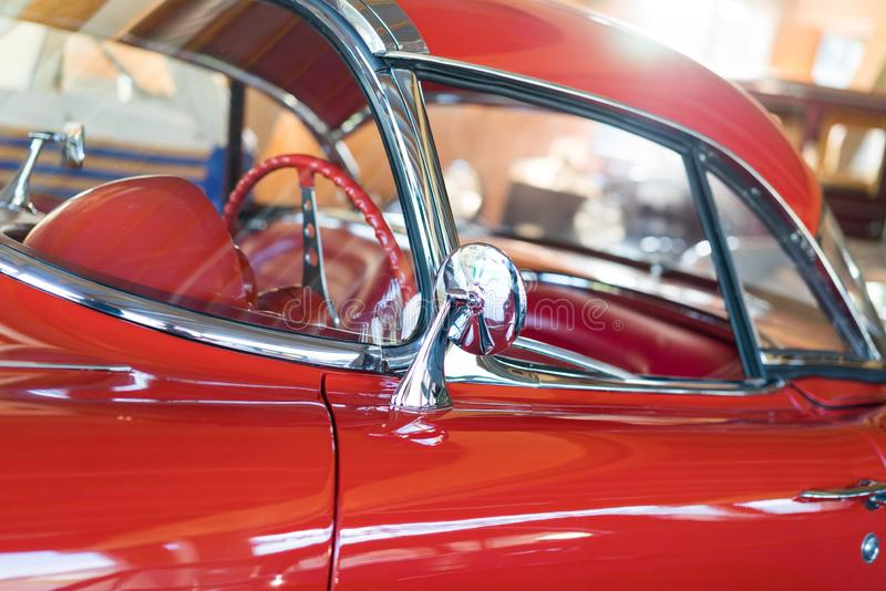 Vintage Chevrolet corvette stock photos
