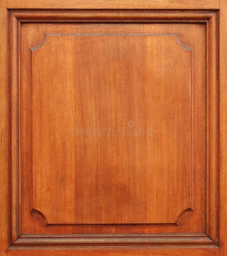 Part of wood door. Part of clean wood door royalty free stock images