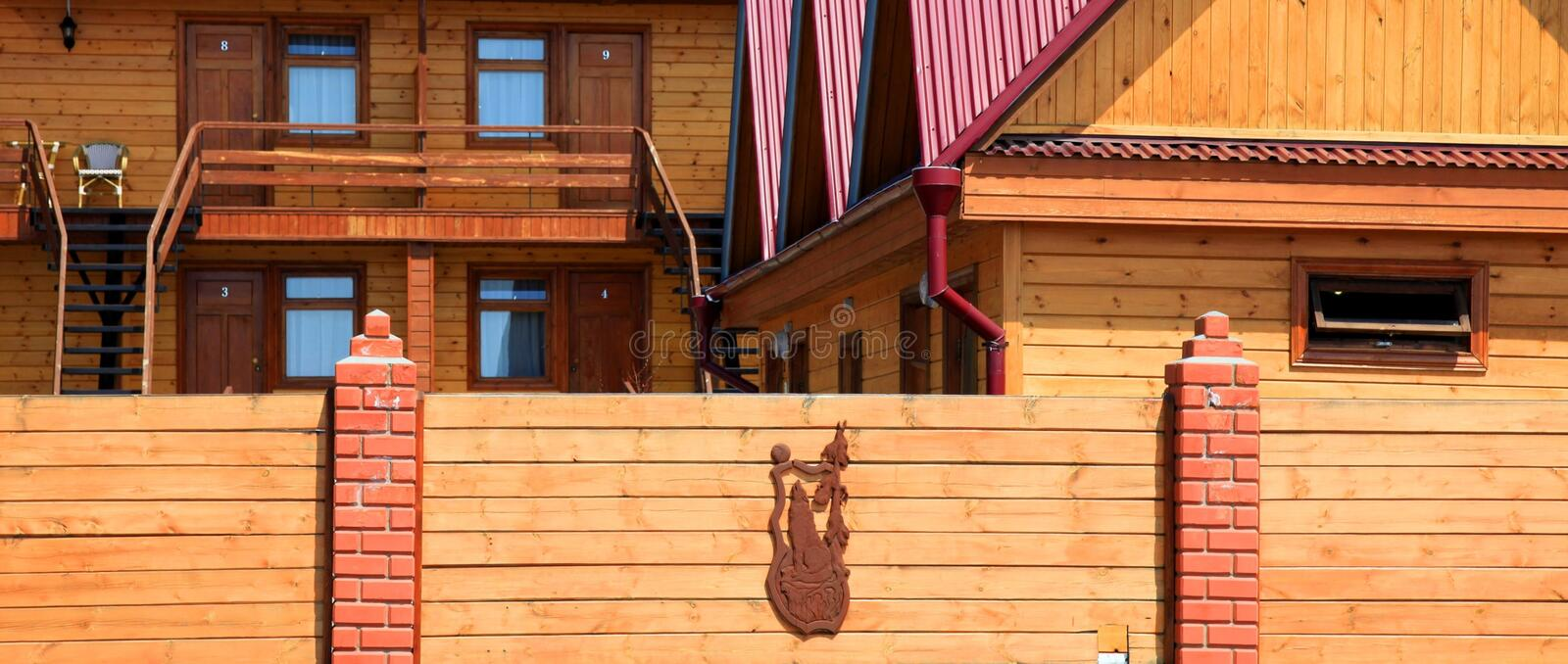Download Part of a wooden house stock image. Image of architecture - 14386773