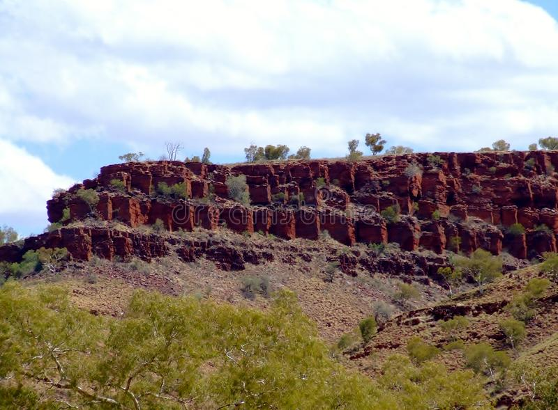 Part of yampire gorge near wittenoom gorge west aust stock images