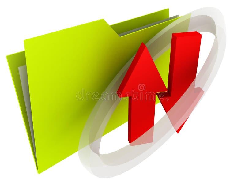 Partage de fichiers de dépliant   illustration de vecteur