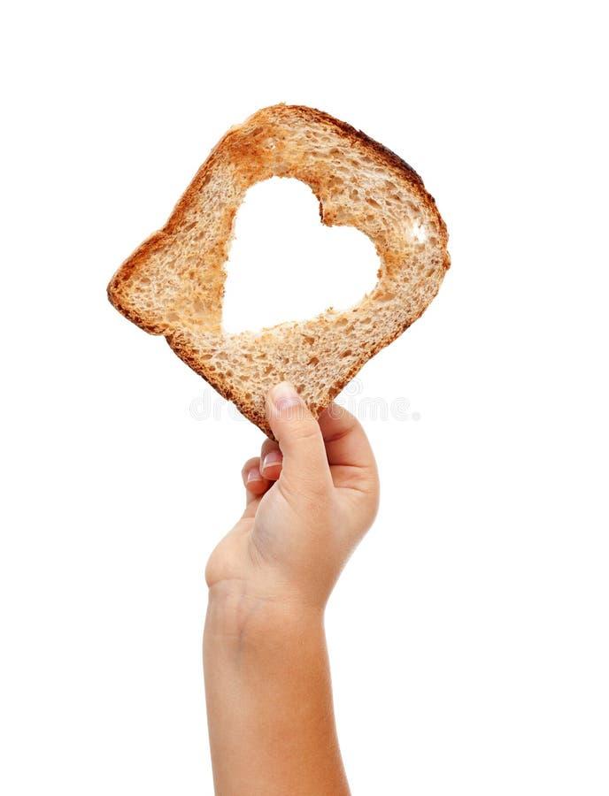 Partage de la nourriture avec amour image libre de droits