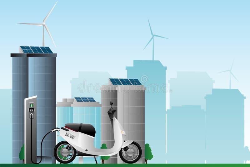 Partager électrique de scooter images stock