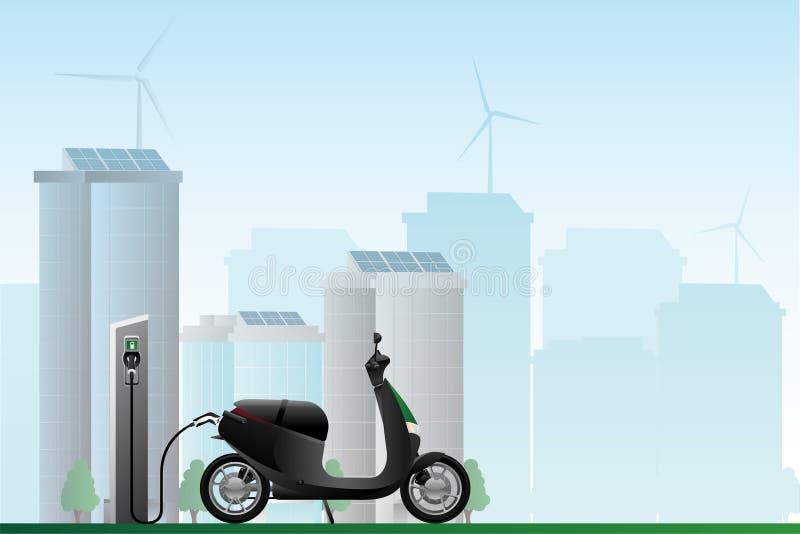 Partager électrique de scooter image libre de droits