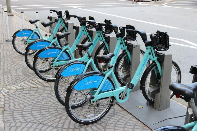 Partager de vélo de San Francisco image libre de droits
