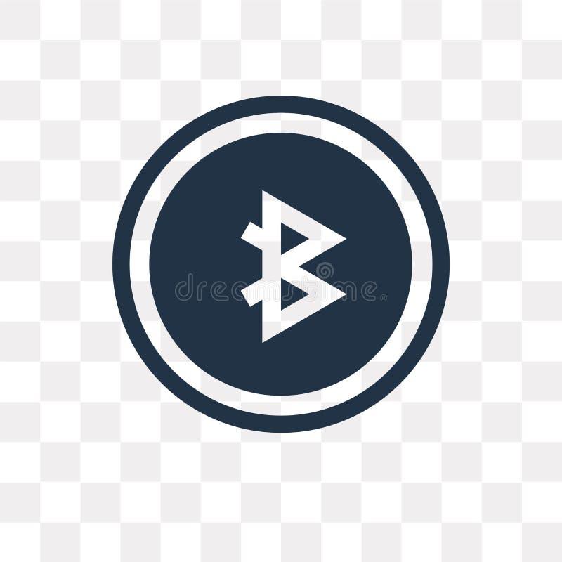Partagez l'icône de vecteur d'isolement sur le fond transparent, tra de part illustration libre de droits