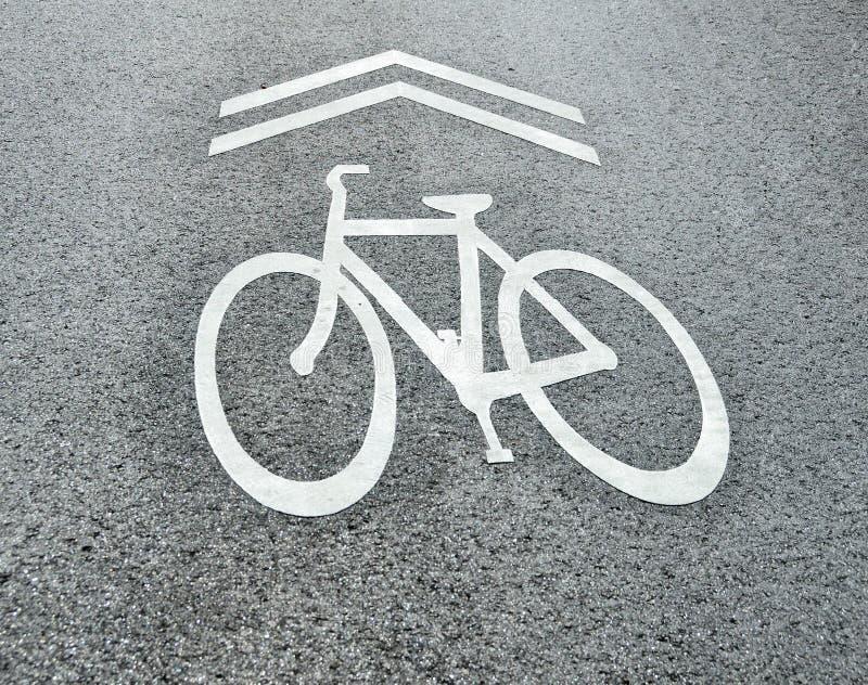 Partagez le signe de bicyclette de route images stock