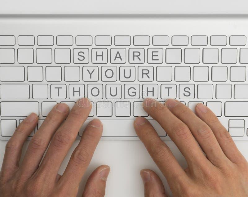 Partagez votre concept de pensées images stock
