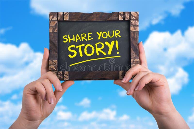 Partagez votre histoire images libres de droits