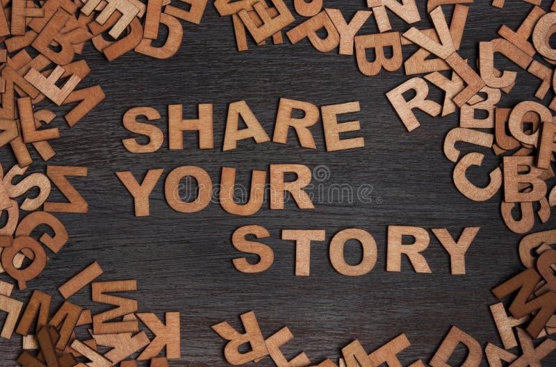 Partagez votre histoire photo stock