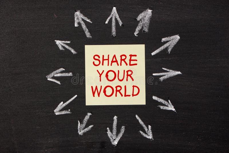 Partagez votre monde photos stock