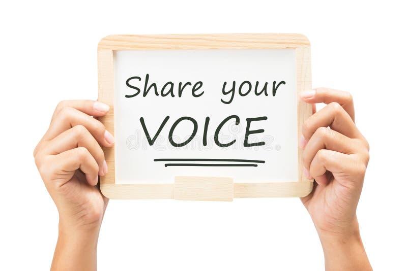 Partagez votre voix photo stock