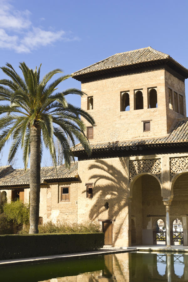 Partal, Alhambra, Grenade image stock