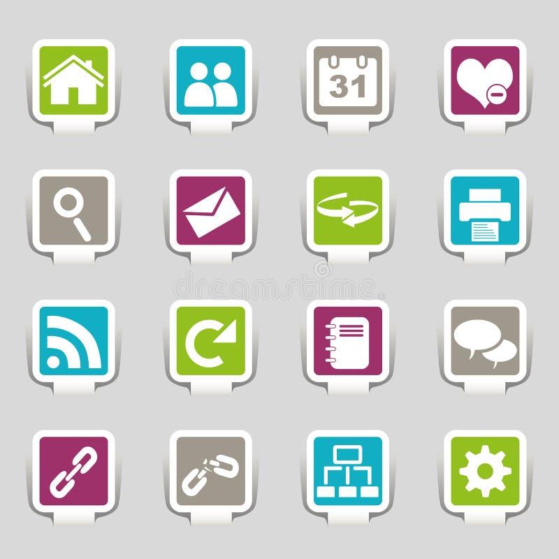 Parte 1 dos ícones do Web ilustração stock