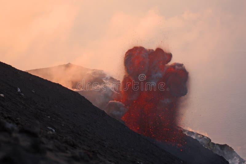Parte 3 de erupção vulcânica fotos de stock royalty free