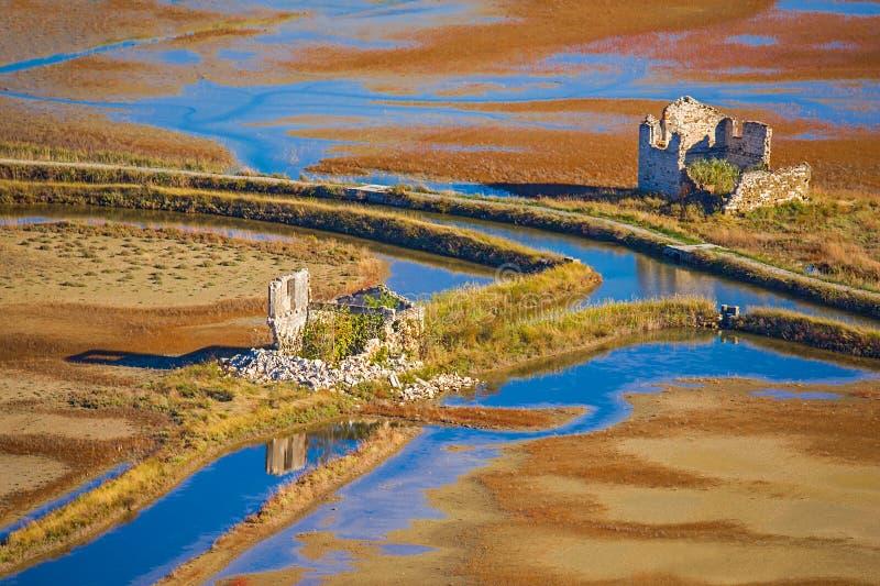 Parte abandonada do salina Secovlje - Eslovênia imagem de stock royalty free