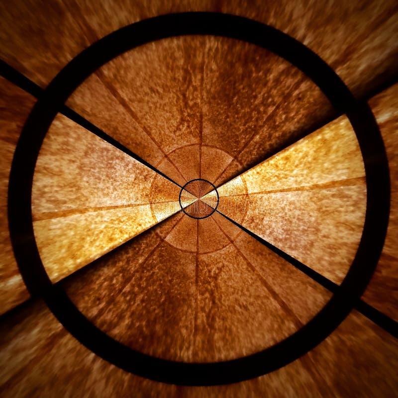 Parte abstracta espiral radial 2 de modelo de estrella de Brown imagen de archivo libre de regalías