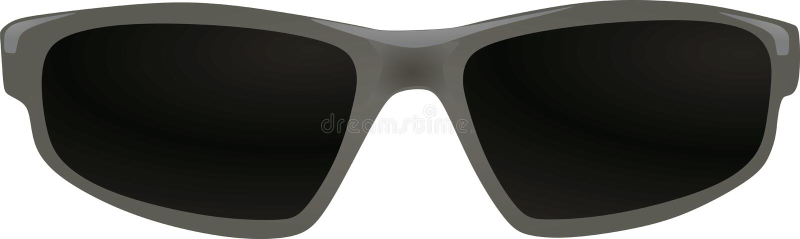 Parte anterior dos óculos de sol cinzentos ilustração stock