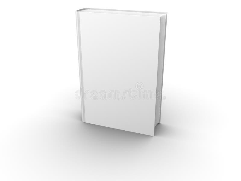 Parte anteriore in bianco isolata del libro