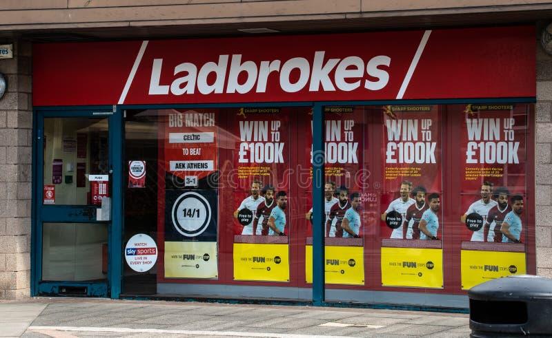 Parte anteriore degli allibratori di Ladbrokes immagine stock libera da diritti