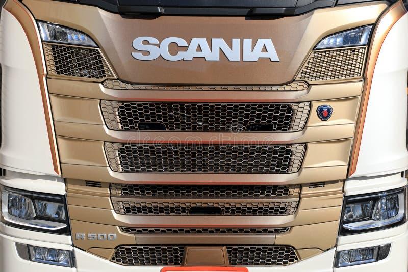 Parte anteriore del camion di Scania R500 della prossima generazione fotografie stock