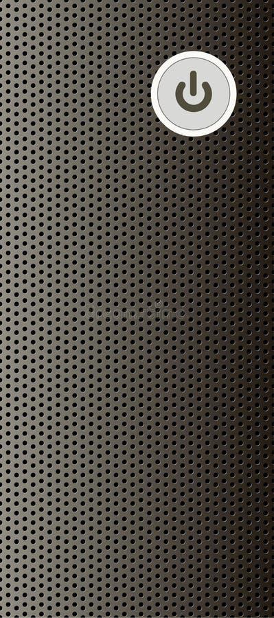 Parte anteriore del CPU illustrazione di stock