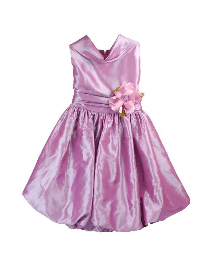 Parte anteriore del vestito viola immagine stock