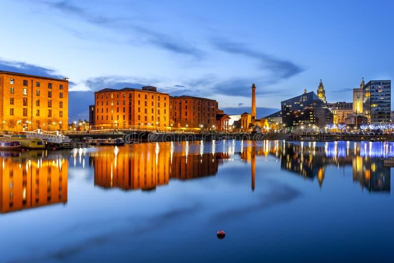 Parte anteriore dell'acqua di Liverpool fotografia stock libera da diritti