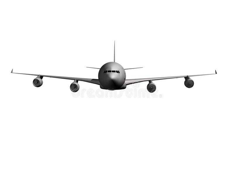 Parte anteriore dell'aeroplano illustrazione vettoriale