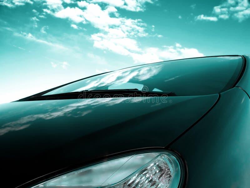 Parte anteriore dell'automobile fotografia stock