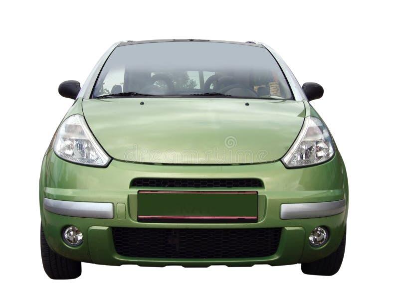 Parte anteriore dell'automobile verde fotografie stock