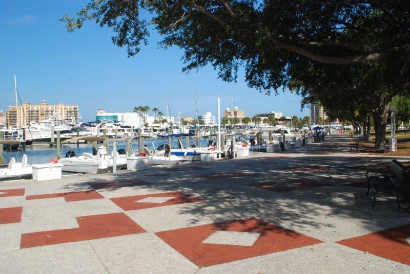 Parte anteriore della baia di Sarasota fotografie stock libere da diritti