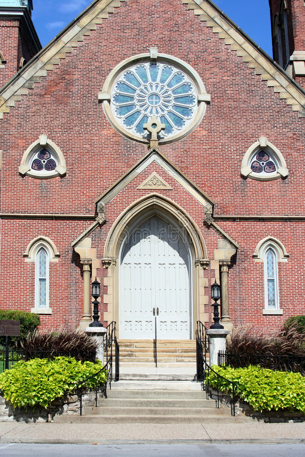 Parte anteriore della chiesa immagini stock libere da diritti