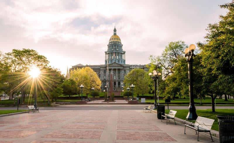 Parte anteriore della costruzione capitale di Colorado fotografia stock