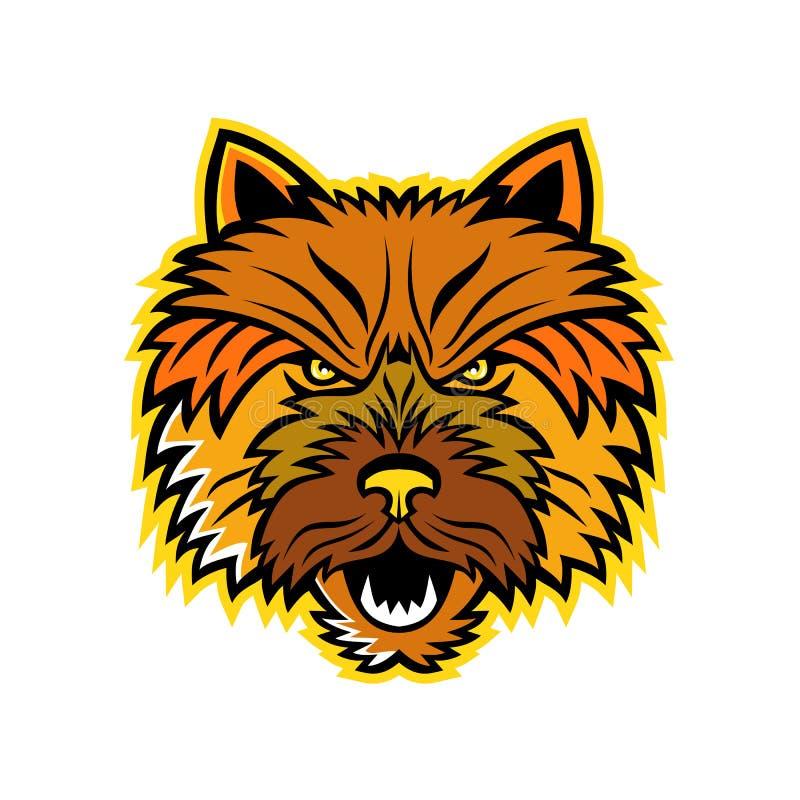Parte anteriore della mascotte di Norwich Terrier illustrazione di stock