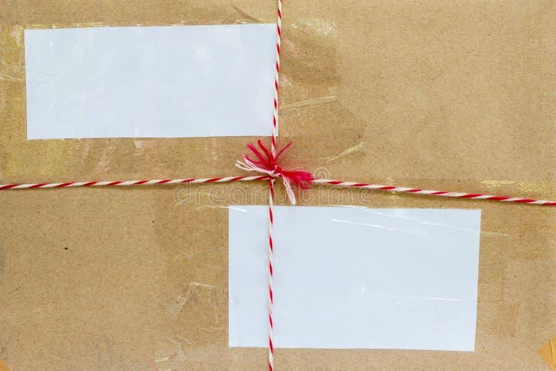 Parte anteriore della superficie del primo piano dei precedenti della scatola del pacchetto immagine stock libera da diritti