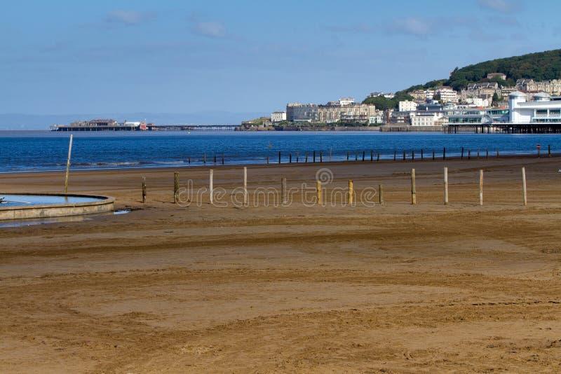 Parte anteriore di mare della Weston-eccellente-Cavalla fotografia stock