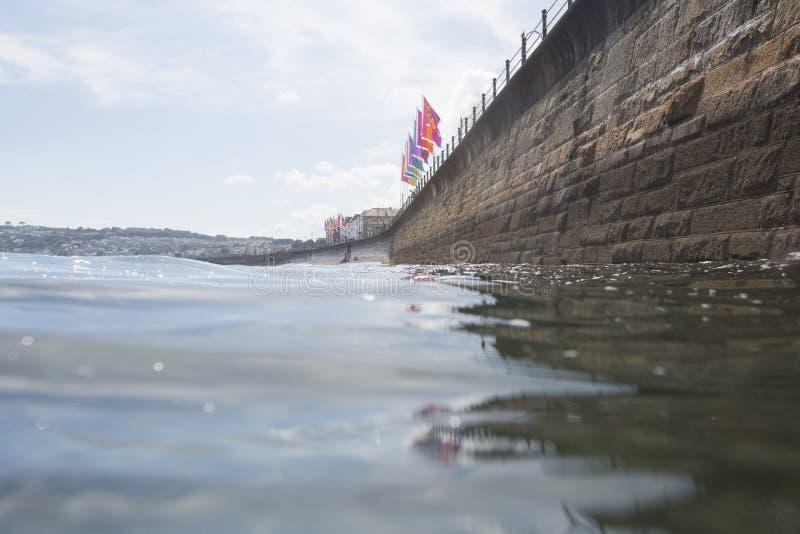Parte anteriore di mare di Penzance nell'ora legale fotografie stock libere da diritti