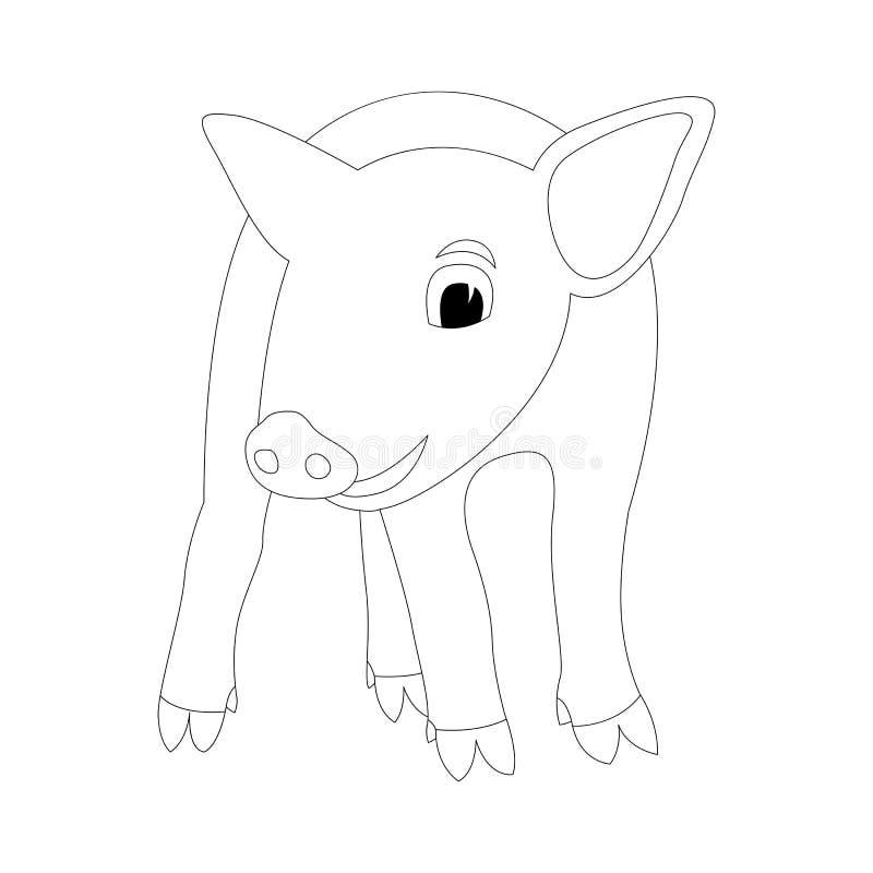 Parte anteriore di tiraggio del rivestimento dell'illustrazione di vettore del maiale illustrazione vettoriale