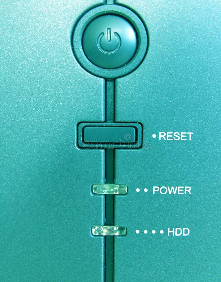 Parte anteriore di un calcolatore immagini stock libere da diritti