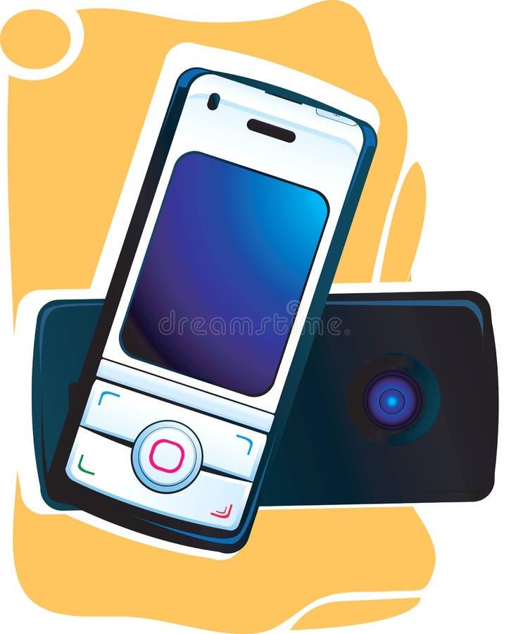 Parte anteriore e parte posteriore del telefono mobile illustrazione di stock