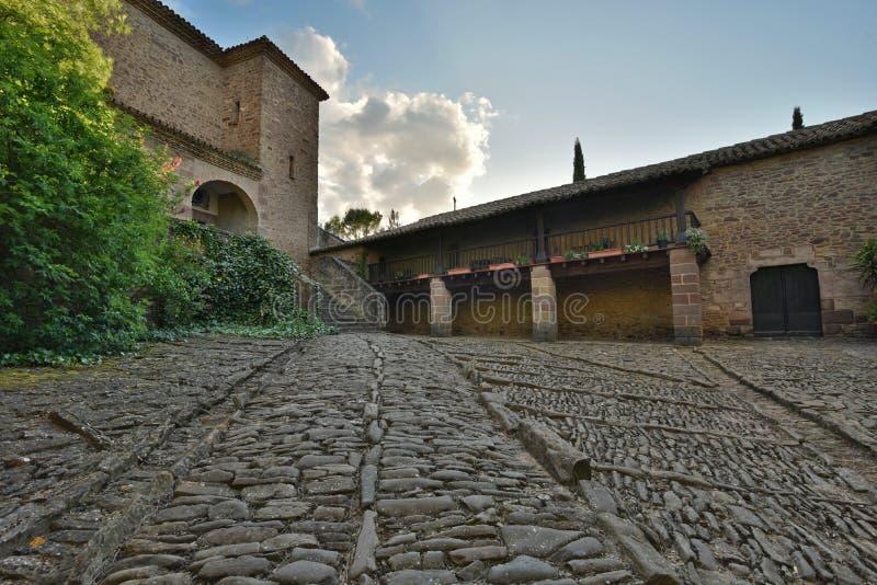Parte antica del castello di Xavier Castillo de Javier fotografia stock libera da diritti