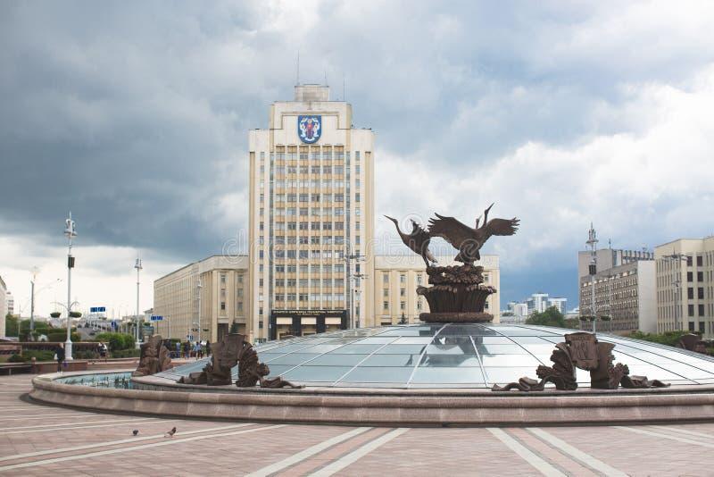 Parte central de Minsk fotos de archivo