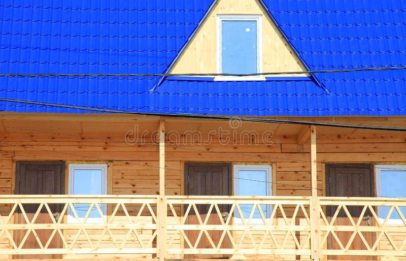 Parte da casa de madeira imagens de stock