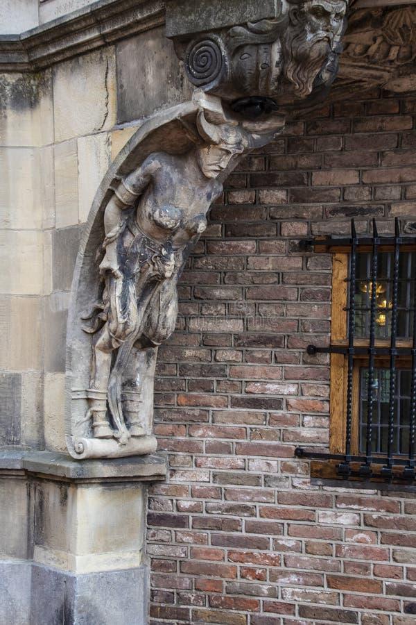 Parte da casa dos diabos de Duivelshuis - um monumento bonito e importante de Arnhem/Países Baixos Suas origens encontram-se desd fotografia de stock royalty free