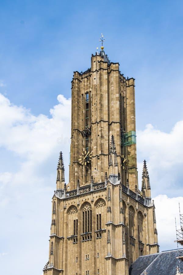Parte da igreja do St o Eusebius, Arnhem - os Países Baixos fotos de stock royalty free