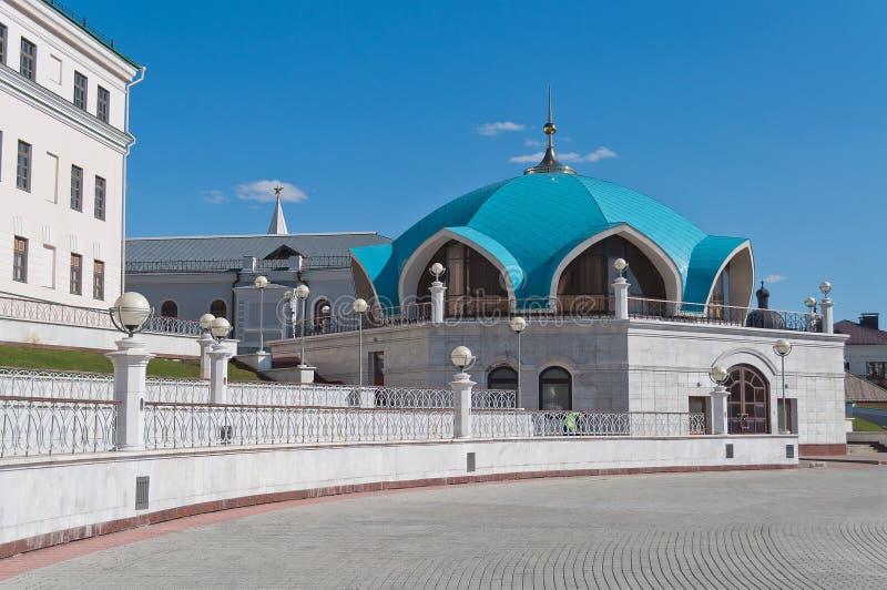 Parte da mesquita de Kul Sharif no Kremlin. Kazan. Rússia. imagem de stock